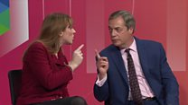 Farage and Rayner clash on Question Time