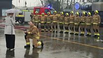 West Yorkshire firefighter proposes at passing out parade
