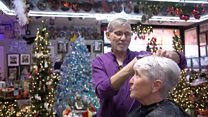 The Jewish barber who loves Christmas