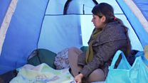 Pregnant and living in a wet tent