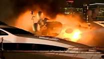 Marc Anthony's yacht goes up in flames
