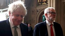 PM and Corbyn in tense walk to Queen's Speech