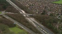 England floods from the air