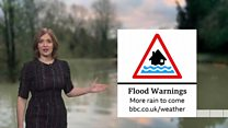 UK forecast as flood warnings in place