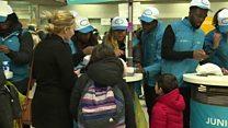 Children begin Christmas travel amid French strike