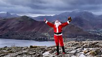 The Christmas party at the top of Scafell Pike