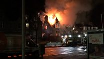 Firefighters tackle major restaurant blaze