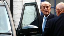 Prince Philip leaves hospital in London