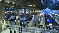 Gare du Nord quiet in Paris on strike's 20th day