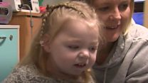 Girl, 3, home for Christmas after a year in hospital