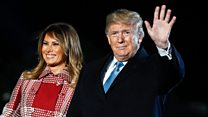 Trump 'still working' on Melania Christmas present