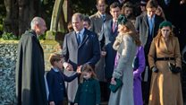 Royal children at Christmas Day church service