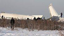 بالفيديو:  تحطم طائرة بعد اصطدامها بمبنى في كازاخستان