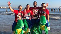 Festive dippers raise thousands for good causes