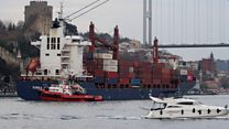 Cargo ship runs aground in Bosphorus strait