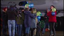 Ukrainians arrive home after prisoner swap