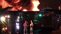 Firefighters tackle scrapyard blaze
