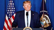 Trump - We took action to stop, not start a war