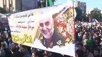 殺害されたソレイマニ司令官の遺体、イランに帰国 黒衣の大群衆が迎える
