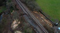 Climate change blamed for rail landslips