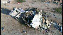 イラン旅客機墜落、現場の様子