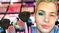 'Make-up was my coping mechanism after coming out'