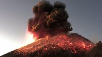 Popocatépetl: Mexican volcano's spectacular eruption caught on digicam thumbnail