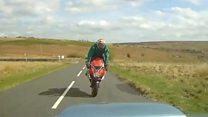 Biker survives horror crash thanks to protective gear