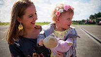 """Air ambulance saved toddler after she """"dropped dead"""""""