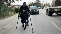 US man breaks document for finishing marathon in an exoskeleton thumbnail