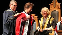 Princess Anne handed honorary degree by Camilla