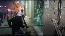 Demonstrators in Beirut target banks in persevered protests thumbnail