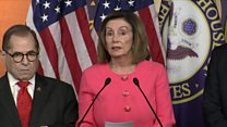 Pelosi 'proud to present impeachment managers'