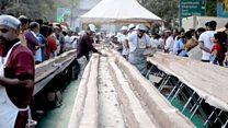 Indians bake the world's 'longest cake'