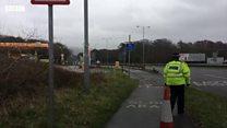 Swansea crash closes road as pedestrian hit by car