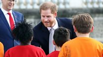 Prince Harry makes public appearance