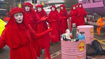Climate protesters block Shell's Aberdeen HQ