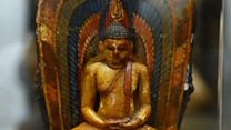 Family return family heirloom Buddha to Sri Lanka