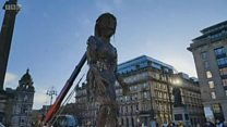 Giant puppet takes Glasgow by Storm