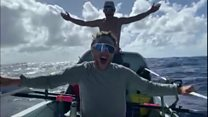 پاروزنی 35 روزه سه برادر اسکاتلندی برای عبور از اقیانوس اطلس