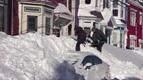 Severe snowstorms hit parts of Canada