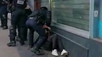 Footage of Paris police officer punching protester