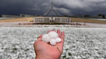 Huge hail storms cause chaos in Australia