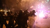 Protesters and police clash in Beirut