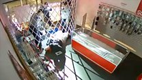 Burglar finds easy way to break in but not out