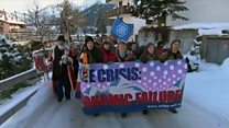 Quarrels, but little consensus at Davos