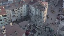 Fire and rubble as deadly quake hits Turkey