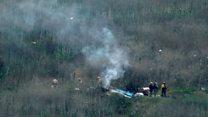 Aftermath of Kobe Bryant helicopter crash
