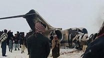 ادعای طالبان درباره سقوط هواپیمای نظامی آمریکا در غزنی
