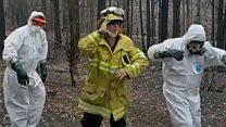 Australian firefighters dance on TikTok to raise spirits thumbnail